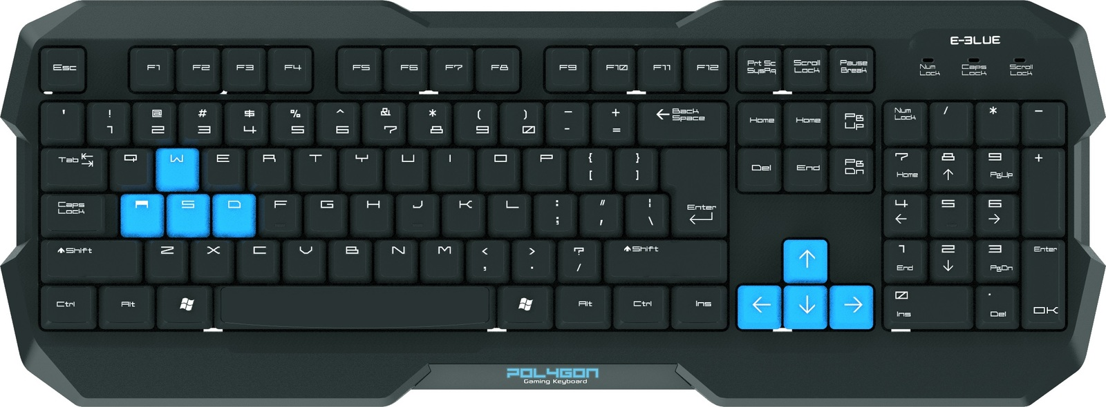 E-Blue Polygon Gaming Keyboard for PC image