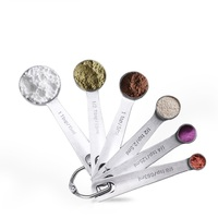 Ape Basics: Stainless Steel Measuring Spoons (Set of 6) image