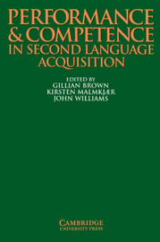 Performance and Competence in Second Language Acquisition image