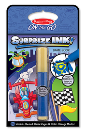 Surprize Ink! Vehicles On the Go Travel Activity Book - Melissa & Doug