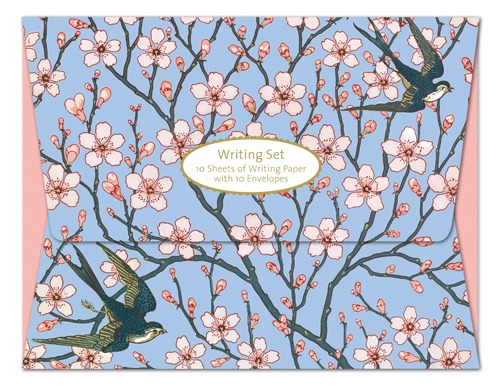 Museums and Galleries: Almond Blossom & Swallow - Writing Set