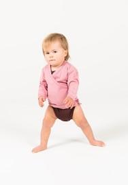 Babu: Merino Kimono Cardigan - Pink (3-6m)