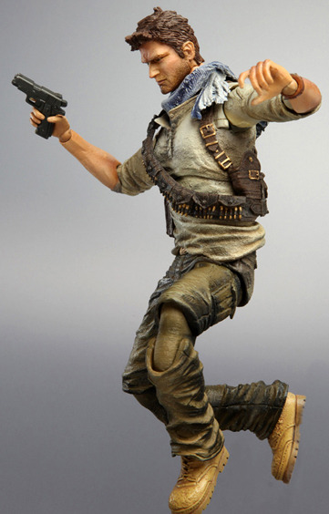Uncharted 3 Play Arts Kai Action Figure - Nathan Drake images, Image 5 of 7