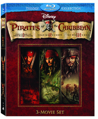 Pirates of the Caribbean - Three-Movie Collection on Blu-ray