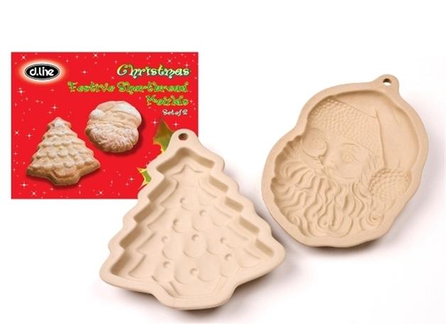 Christmas Festive Shortbread Moulds Set Of 2 At Mighty Ape Australia