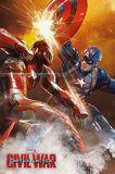 Captian America Civil War - Fight Wall Poster