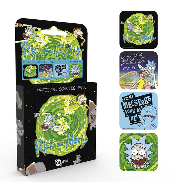 Rick and Morty - Coaster Set
