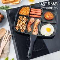 Fast & Easy Brekkie Cooker: 5-In-1 Non-stick Pan