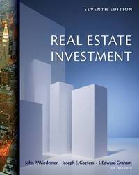 Real Estate Investment by John P. Wiedemer