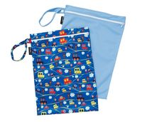 Mum 2 Mum: Wet Bag - Cars / Sky Blue (2 Pack)