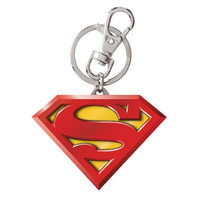 Superman Logo Colored Pewter Key Chain