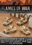 Flames of War: Afrika Korps - Sd Kfz 10/4 2cm Light AA Platoon