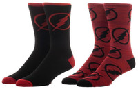 DC Comics: Flash - Men's Crew Sock Set (2-Pack)