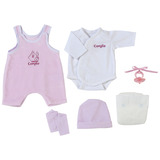 Corolle Classique 42cm Doll Clothing - Pink Layette Set
