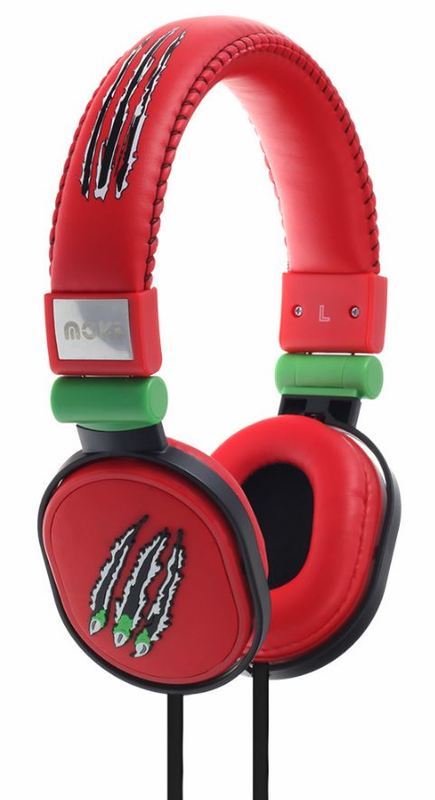 Moki Poppers Kids Headphones - Claw Red
