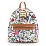 Loungefly Pokemon Character Print White Mini Backpack