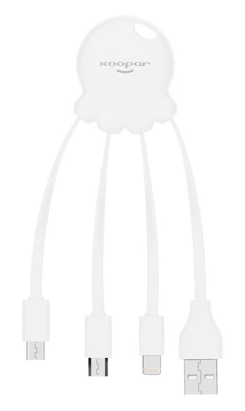 Xoopar: Octopus 2 - Charging Cable (White)