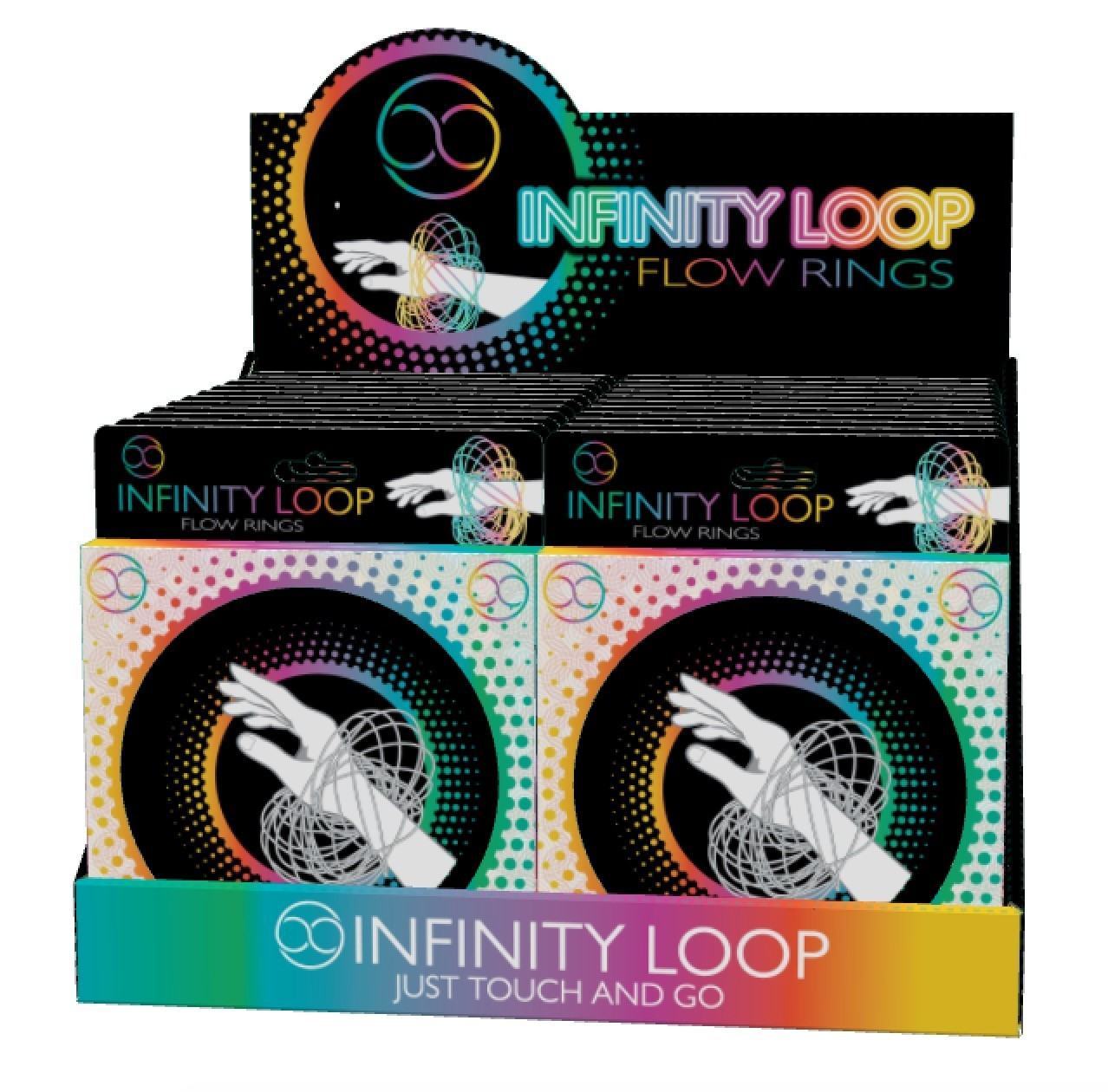 Infinity Loop Flow Ring - Blue image