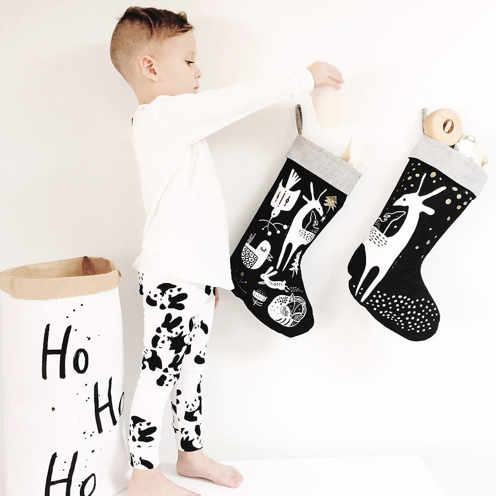Wee Gallery: Organic Holiday Stocking - Doggy Love image