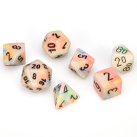 Chessex: Polyhedral 7-Die Set - Festive Circus with Black