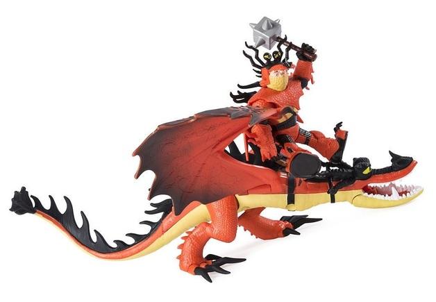 How to Train Your Dragon 3: Snotlout & Hookfang - Dragon & Viking Playset
