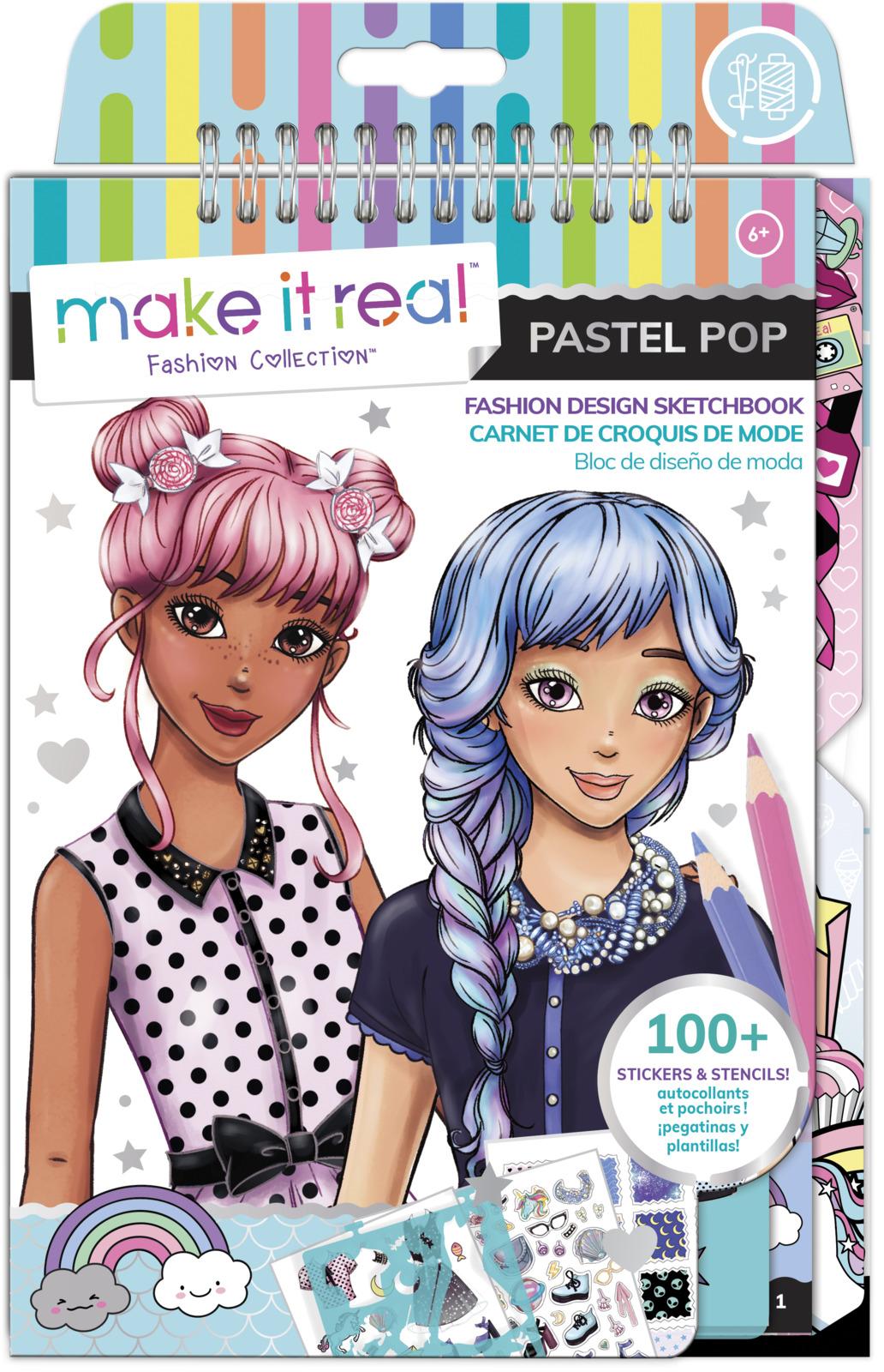 Make It Real: Fashion Design Sketchbook - Pastel Pop! image