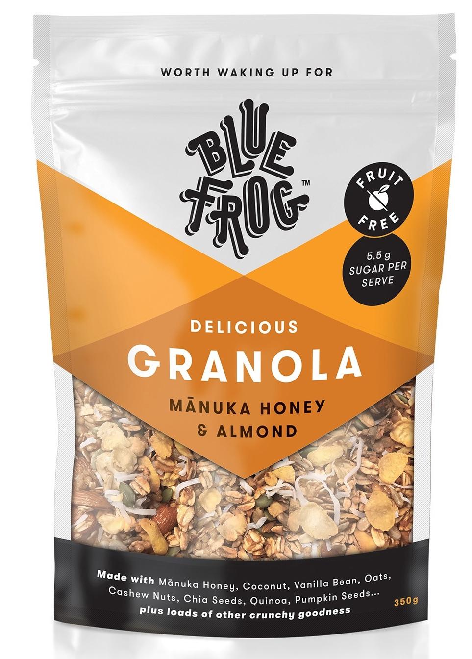 Blue Frog Granola - Manuka Honey & Almond 350g image