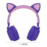 Cat Ears: Bluetooth Wireless Headset - Purple