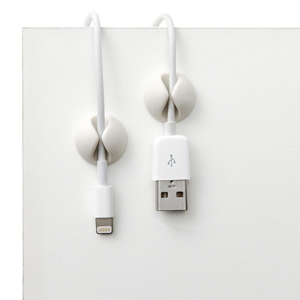Bluelounge CableDrop Cable Clips - Grey image