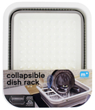 Small Collapsible Dish Rack - White