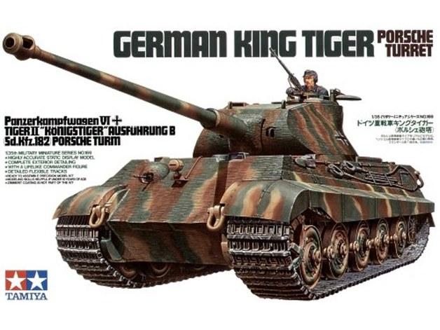 "Tamiya 1/35 King Tiger ""Porsche Turret"" - Model Kit"
