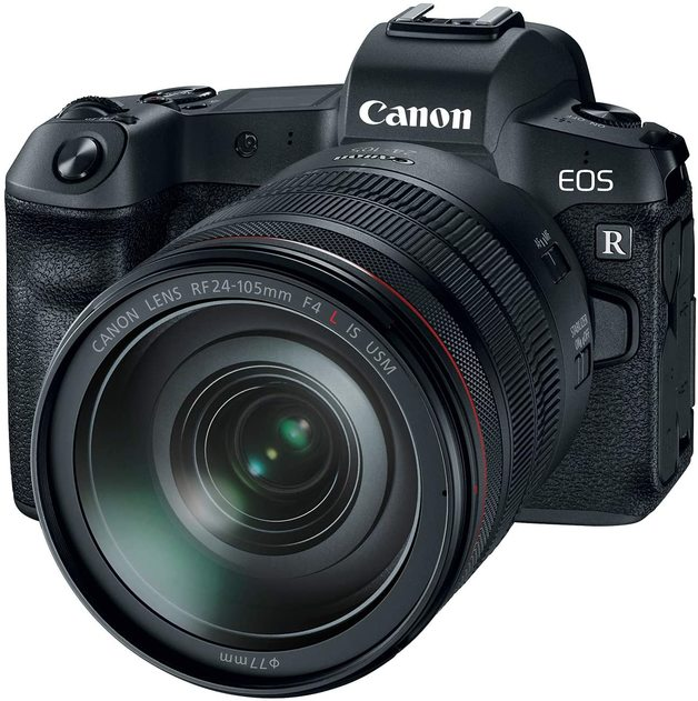 Canon EOS R Mirrorless Camera with RF 24-105mm F/4L IS USM Lens - Black