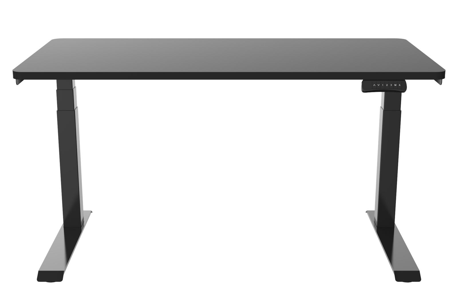 Gorilla Office: 3-Stage Motorised Height Adjustable Desk - Black/Black (1400 x 700mm) image
