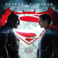 Batman vs Superman: Dawn of Justice 2017 Square Wall Calendar