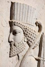 Bas-Relief of Persian Soldier from Persepolis Iran Journal by Cool Image image