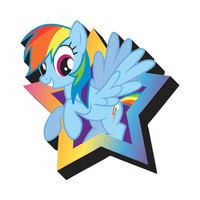 My Little Pony Rainbow Dash Funky Chunky Magnet