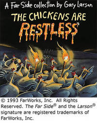Chickens are Restless by Gary Larson