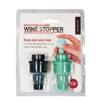 Breathtaking Vacuum Wine Stopper Twin Pack (Petrol Blue/Light Green)