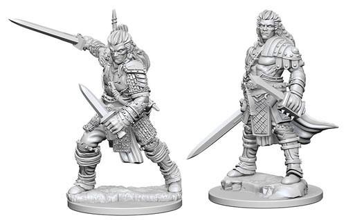 Pathfinder Deep Cuts: Unpainted Miniature Figures - Human Male Fighter image