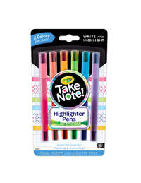 Crayola: Take Note - Dual-Ended Highlighter Pens (6 Pack)