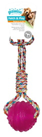 Pawise: TPR Ball with Rope Handle