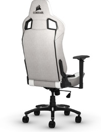 Corsair T3 RUSH Fabric Gaming Chair - Grey & White for  image
