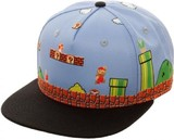 Mario: 8-Bit Allover Scene - Snapback Cap