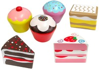 Fun Factory - 6 Piece Wooden Cakes