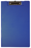 FM Foolscap PVC Clipboard With Flap - Blue
