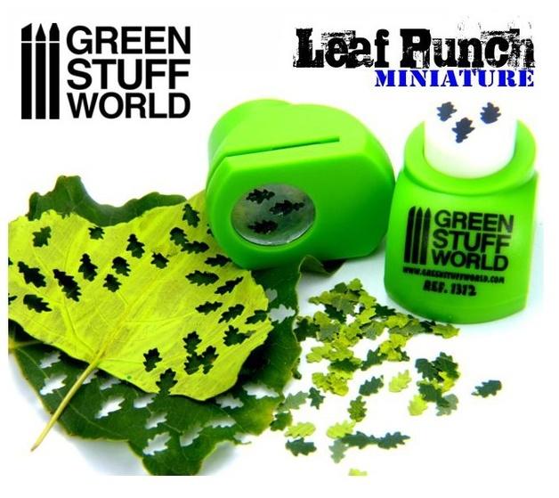 Green Stuff World - Miniature Leaf Punch (Light Green)