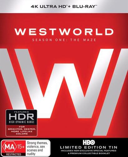 Westworld - Season One (Limited Edition Tin - 4K Blu-ray + Blu-ray) on Blu-ray, UHD Blu-ray