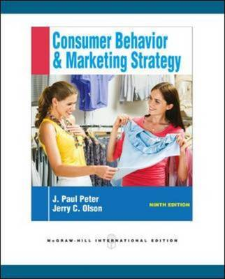 Consumer Behavior by J.Paul Peter