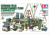 Tamiya German Field Maintenance Team & Equipment Set 1/35 Kitset Model