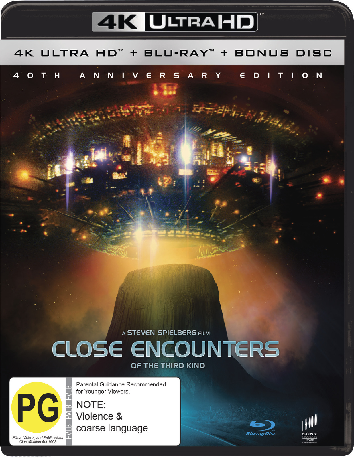 Close Encounters of the Third Kind - 40th Anniversary + Bonus Disc (4K Blu-ray + Blu-ray) on UHD Blu-ray image